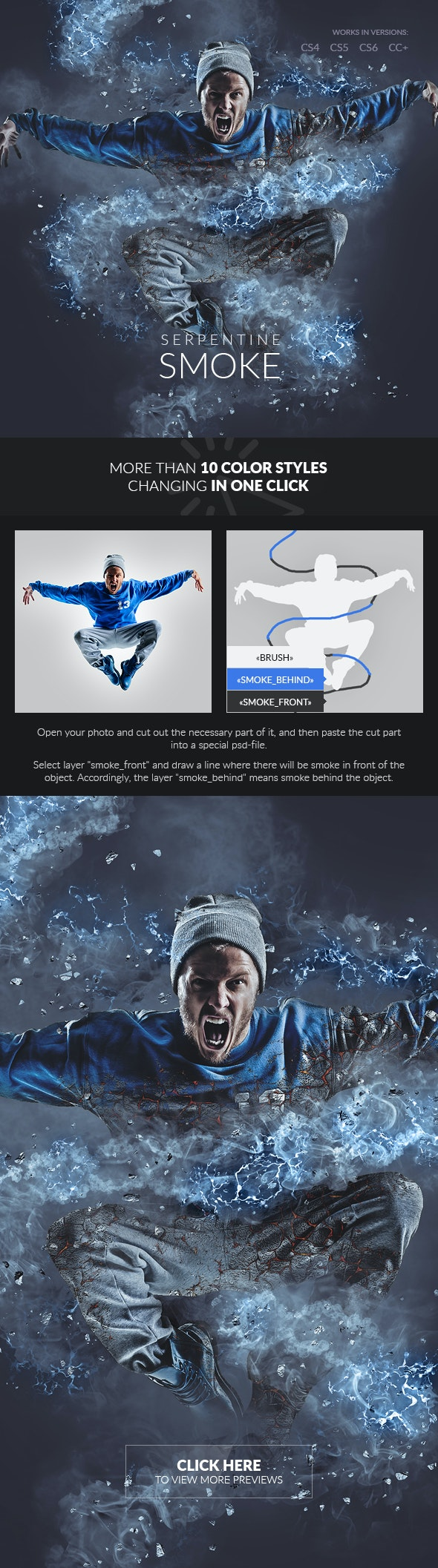 Serpentine Smoke Photoshop Action - Photo Effects Actions