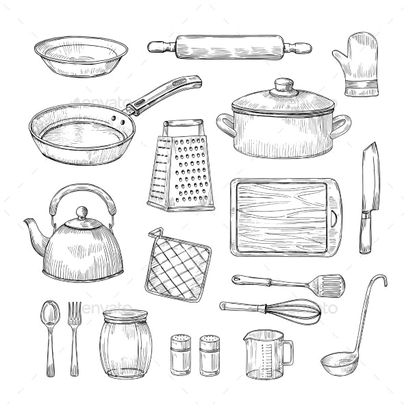 Kitchen Tools - Man-made Objects Objects