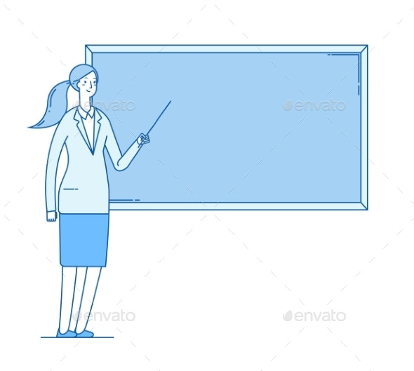 Woman Teacher - People Characters