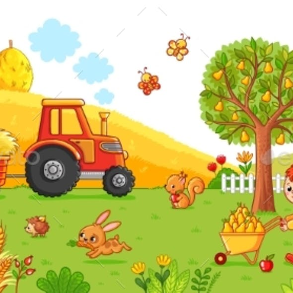 Vector Illustration on a Agricultural Theme