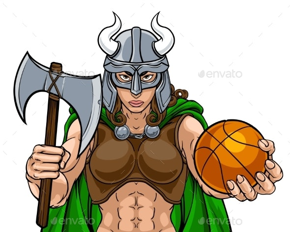 Viking Female Gladiator Basketball Warrior Woman - People Characters