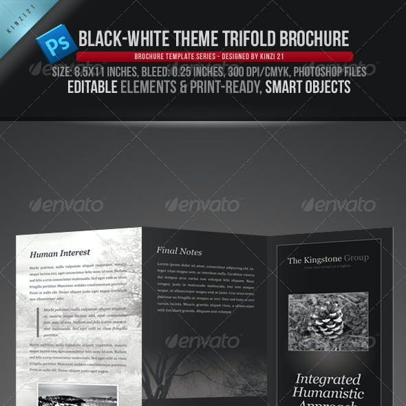 Black & White Theme Trifold Brochure Template