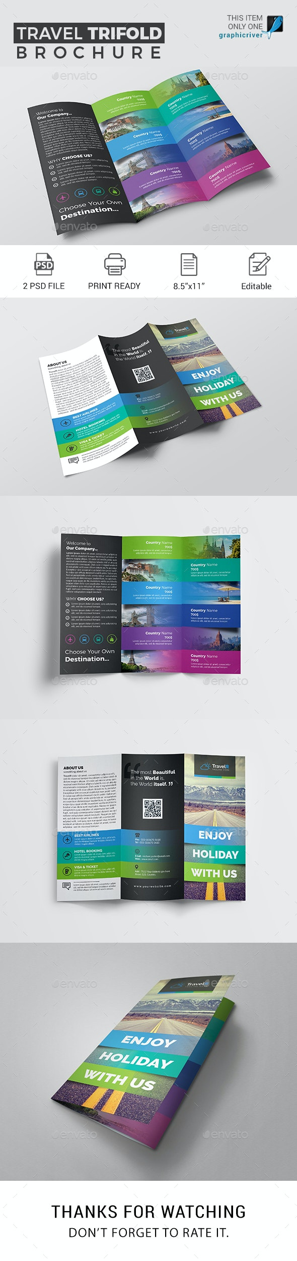 Travel Trifold Brochure - Corporate Brochures