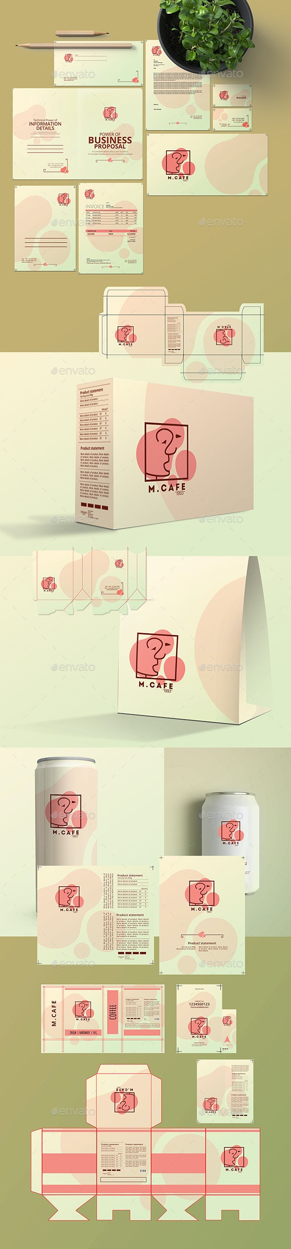 Branding & Package Design - Miscellaneous Print Templates