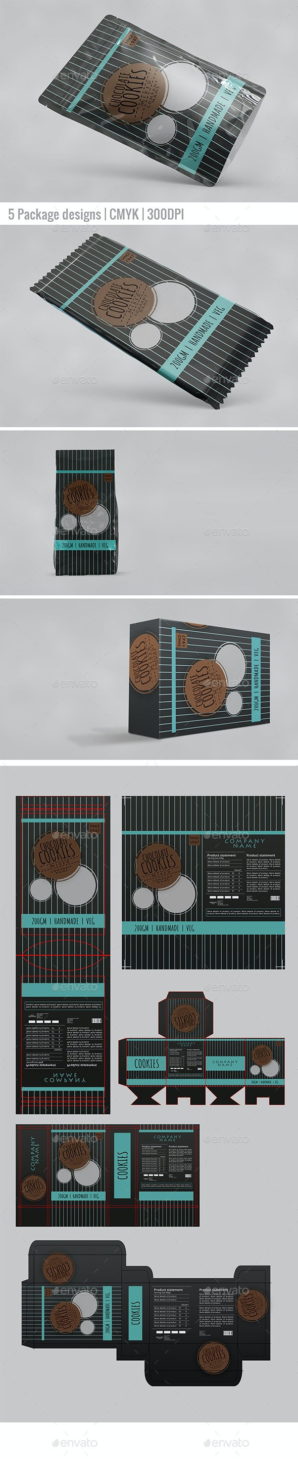 Package and Products Label - Packaging Print Templates