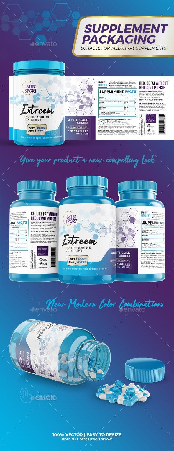 Weight Loss Supplement Packaging #2 - Packaging Print Templates