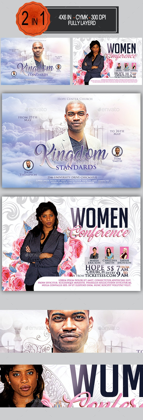 Multipurpose Church Flyer Bundle - Church Flyers
