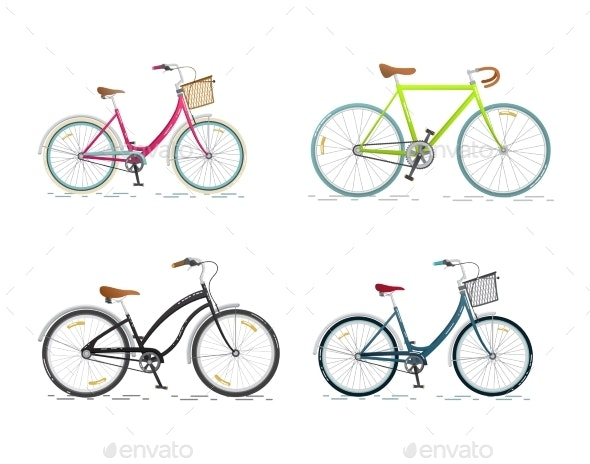 Set of Sports Bicycles - Man-made Objects Objects