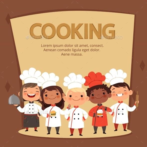 Kids Characters Prepare Food - People Characters