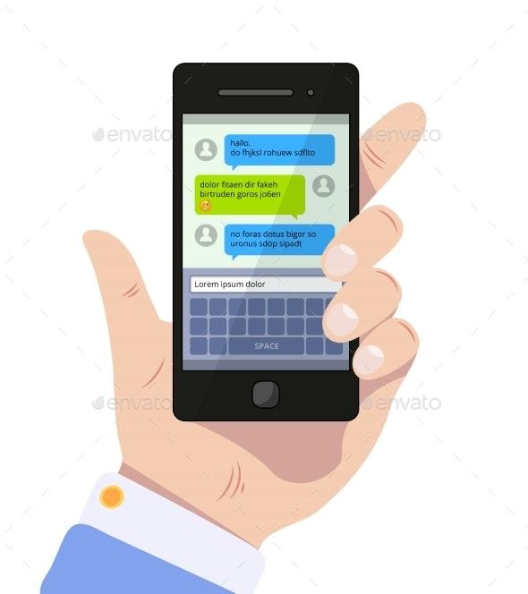 Messenger Screen - Communications Technology