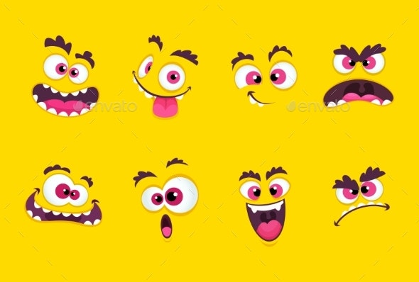 Cartoon Faces - Miscellaneous Vectors