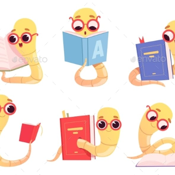 Bookworms Cartoon