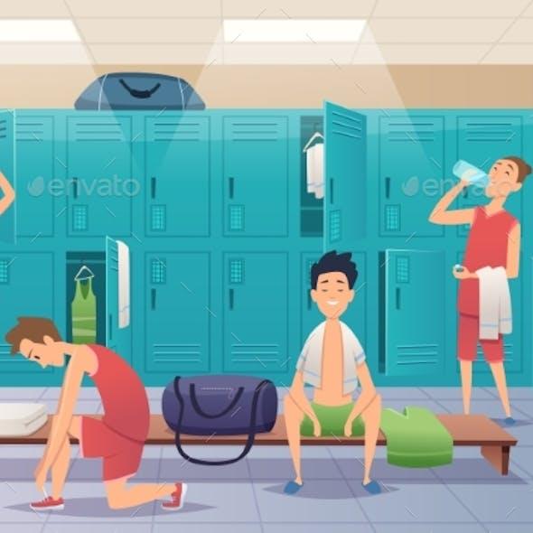 School Locker Room