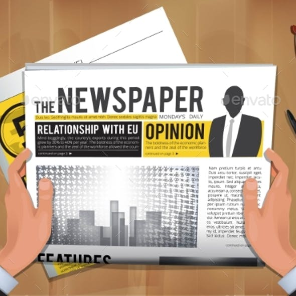 News Headlines Text Graphics, Designs & Templates
