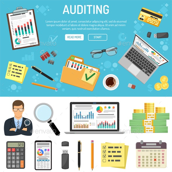 Auditing and Business Accounting Infographics - Concepts Business