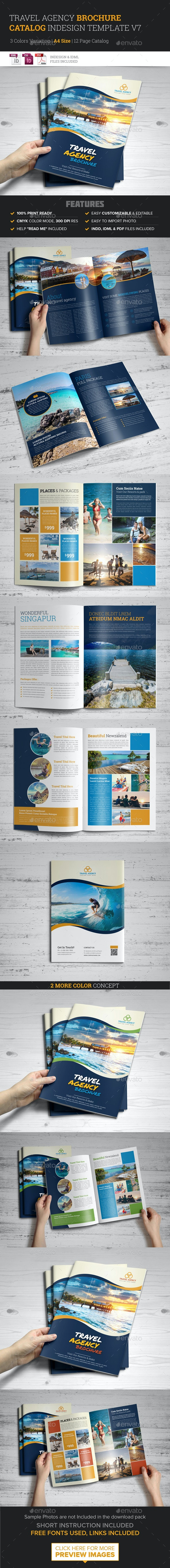 Travel Agency Brochure Catalog InDesign Template v7 - Corporate Brochures