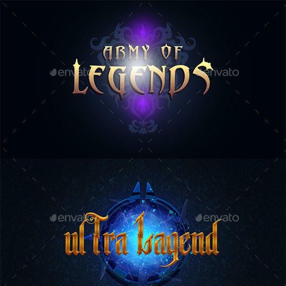 Fantasy Game Logos