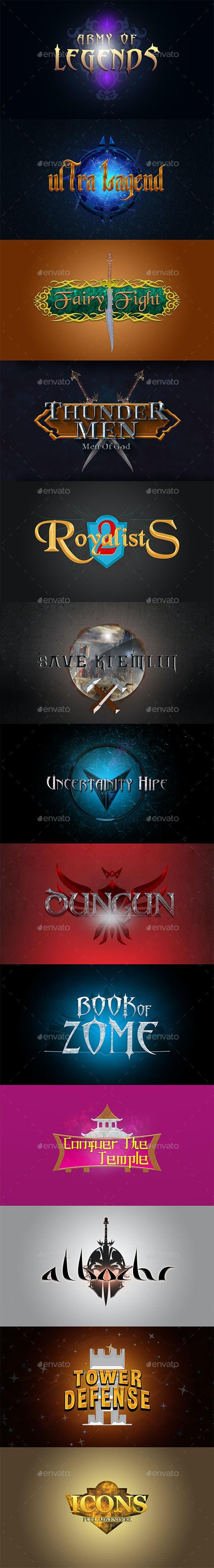 Fantasy Game Logos - Miscellaneous Game Assets