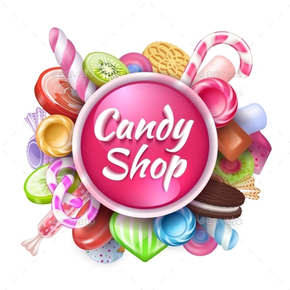 Candies Background - Food Objects