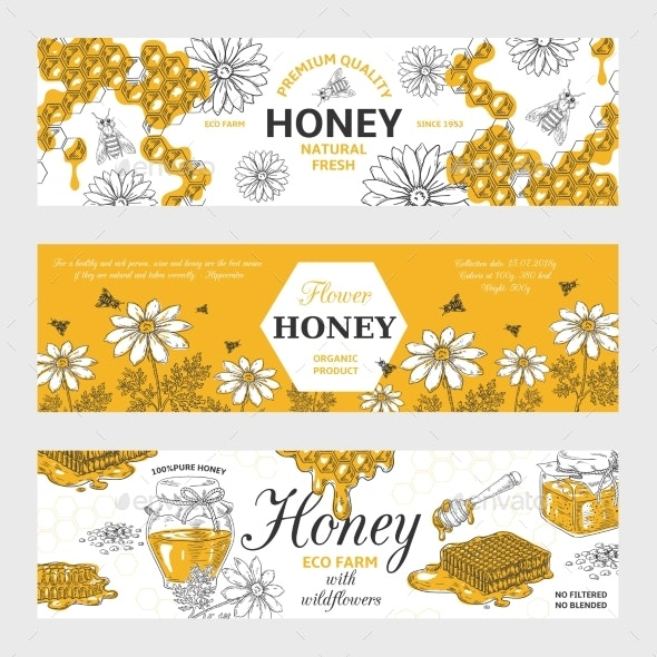 Honey Labels - Food Objects