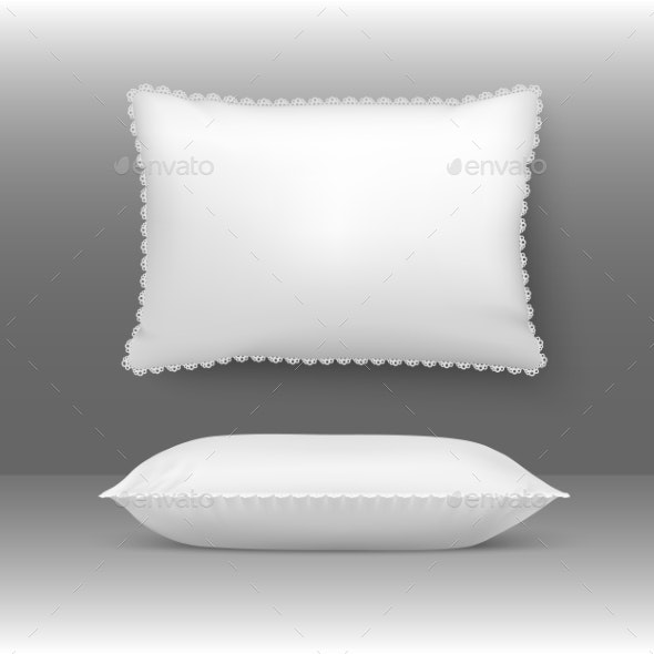 Vector Pillows Illustration - Man-made Objects Objects