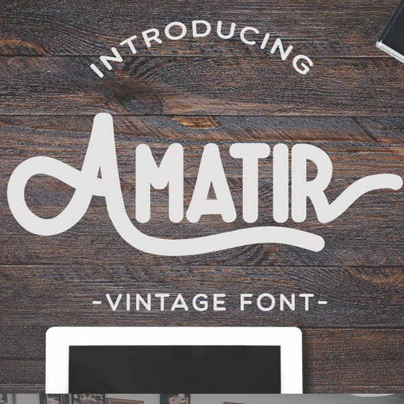 Amatir Vintage Monoline Font