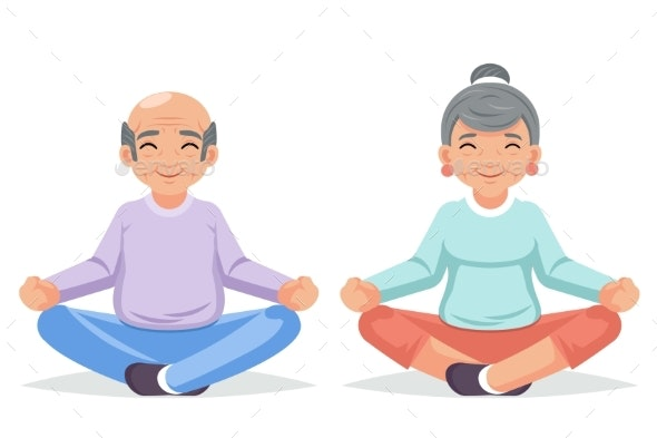 Fitness Adult People Healthy Lifestyle Old Couple - People Characters