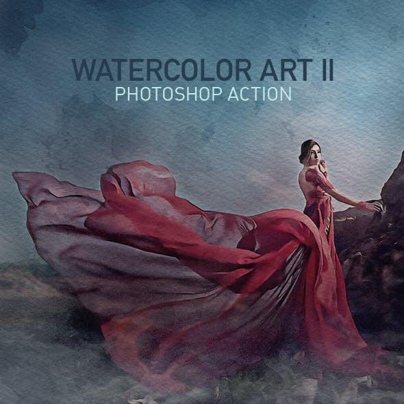 Watercolor Art II Photoshop Action