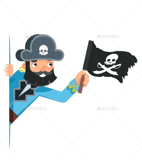 Skull Flag Sea Dog Pirate Buccaneer Filibuster - Miscellaneous Vectors