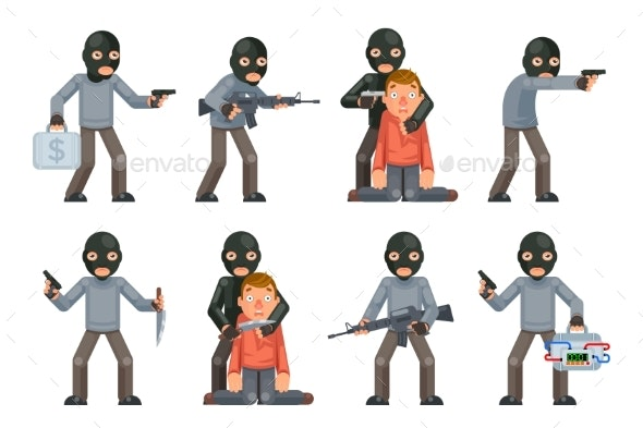 Hostage Threat Villain - People Characters