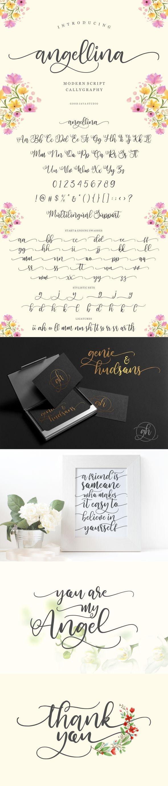 Angellina - Calligraphy Script