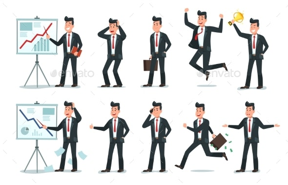 Businessman Character - Concepts Business
