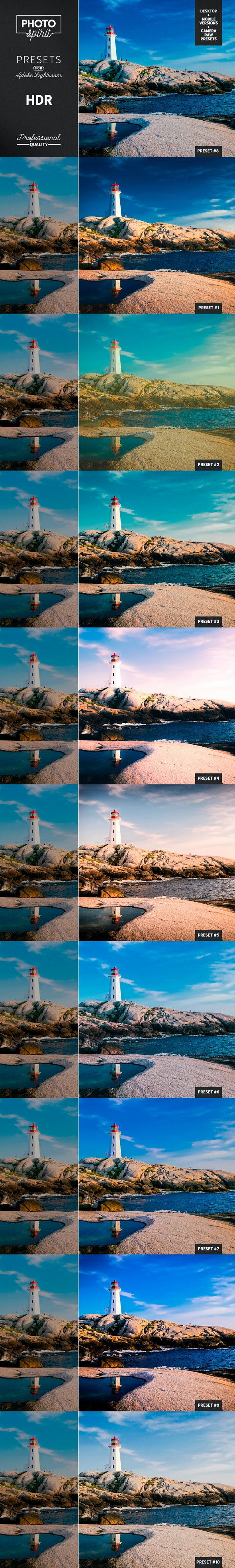 HDR Presets DNG Mobile + Desktop + Camera RAW
