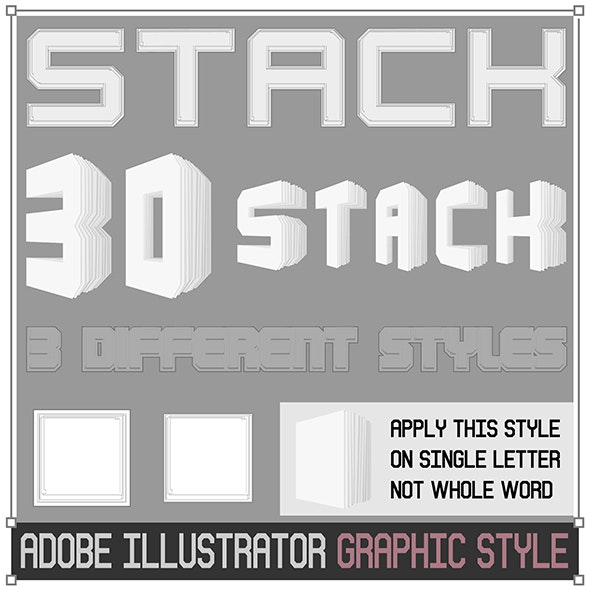 3d Stack Graphic Style - Styles Illustrator