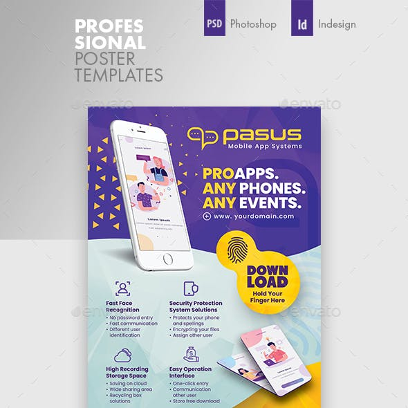 Mobile App Poster Templates