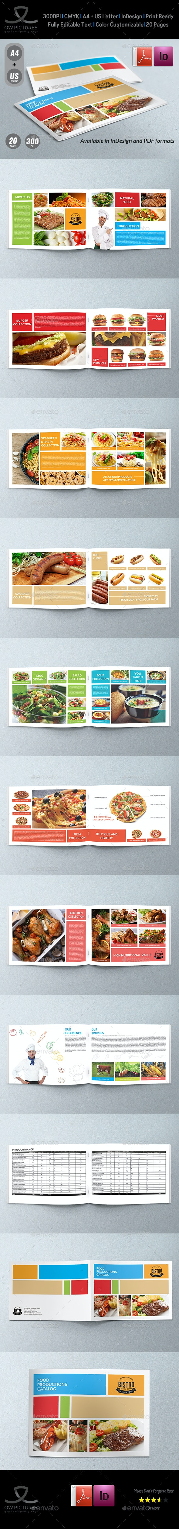 Food Products Catalog Brochure Template Vol.2 - 20 Pages - Catalogs Brochures