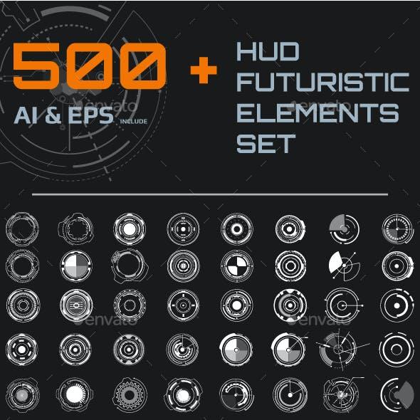 HUD Futuristic Elements Set