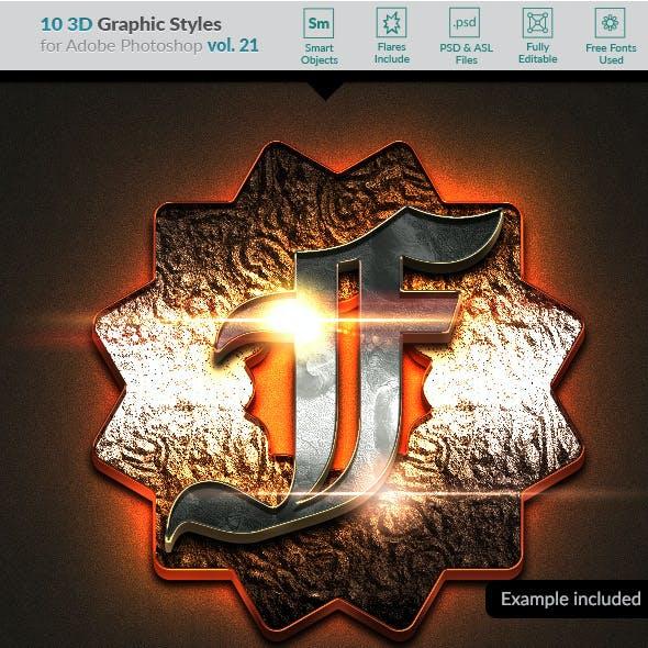 10 3D Styles vol. 21