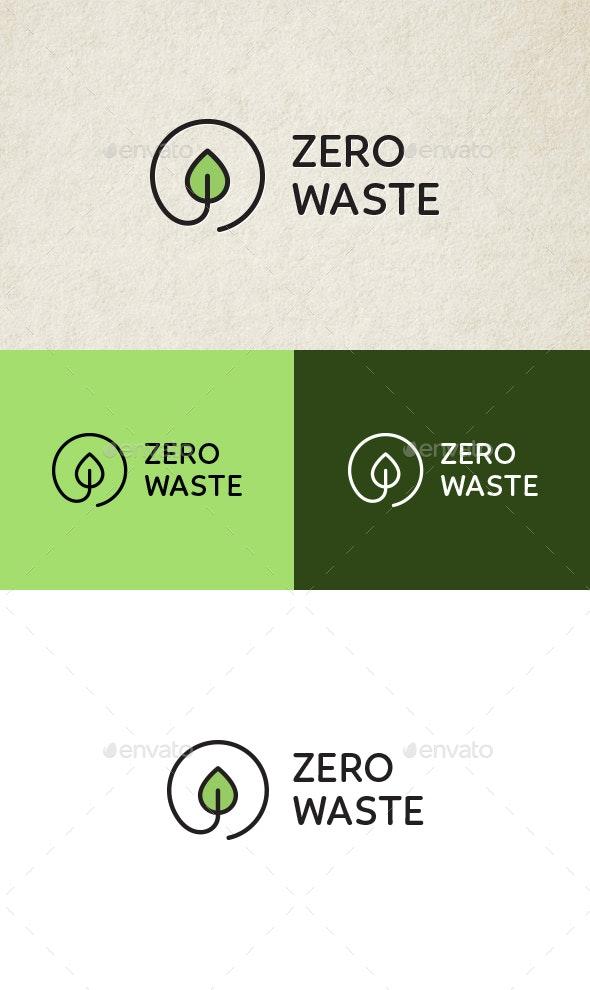 Zero Waste Eco Logo - Nature Logo Templates