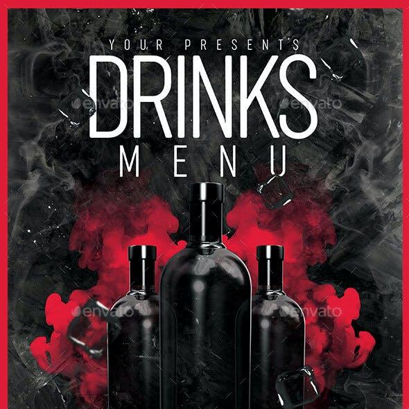 A4 Drinks Menu