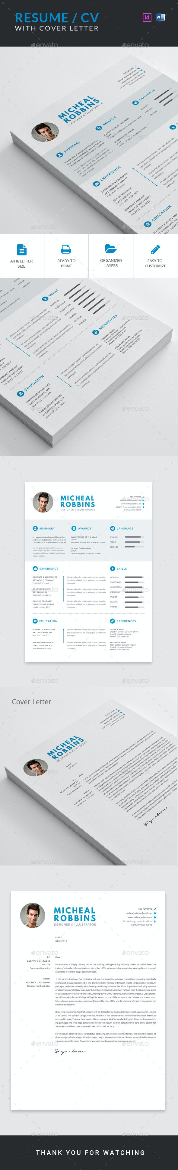 Resume / CV with Cover Letter - Resumes Stationery