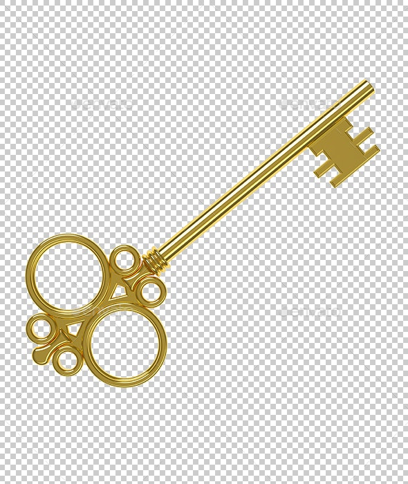 Golden Key - Objects 3D Renders