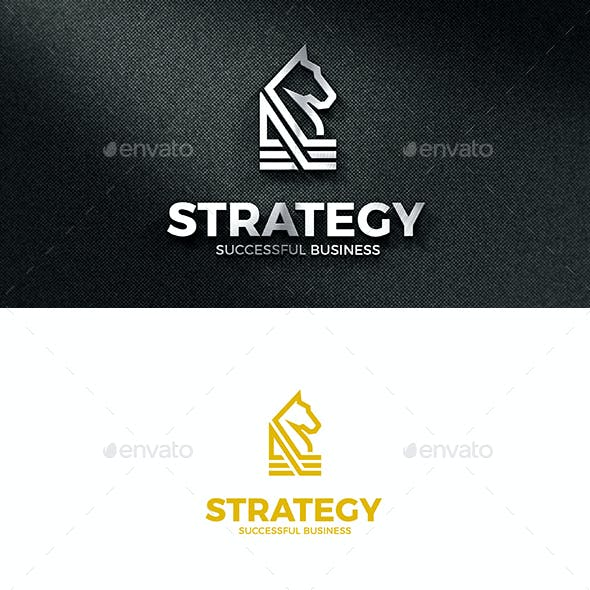 Strategy - Abstract Horse Clean Business Logo