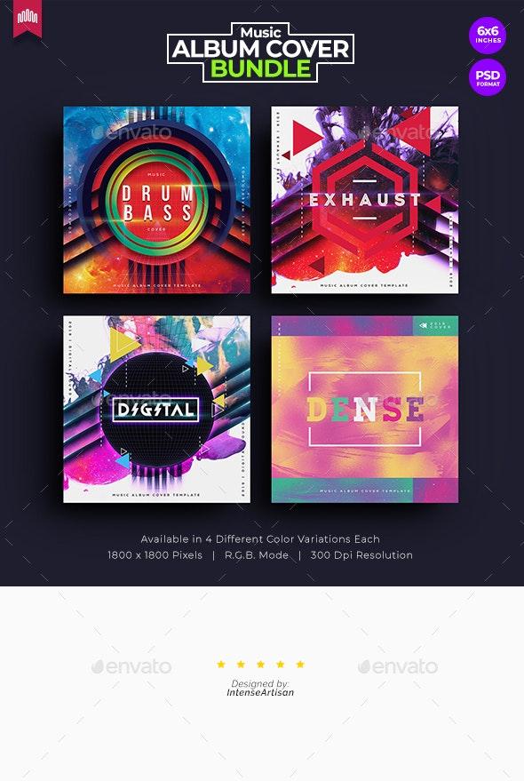 4in1 Music Album Cover - Bundle 3 - Miscellaneous Social Media