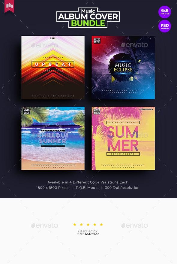 4in1 Music Album Cover - Bundle 6 - Miscellaneous Social Media