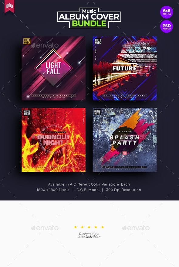 4in1 Music Album Cover - Bundle 7 - Miscellaneous Social Media