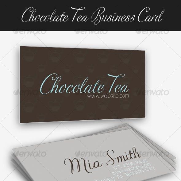 Chocolate Tea Business Card