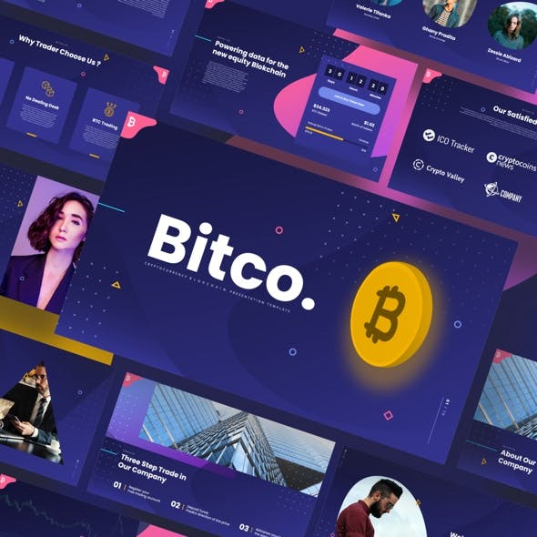 Bitco - Cryptocurrency Blokchain Powerpoint Template