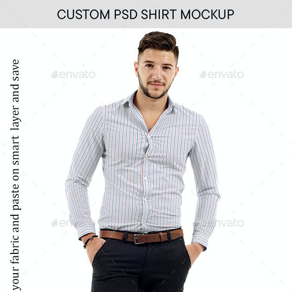 Full Sleeve Slim Shirt Mockup