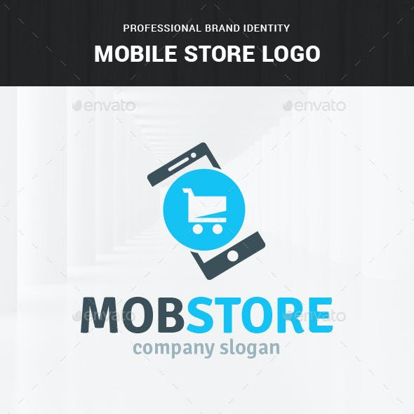 Mobile Store Logo Template